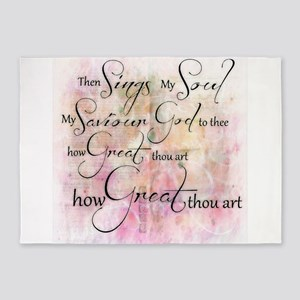 How great thou art 5'x7'Area Rug
