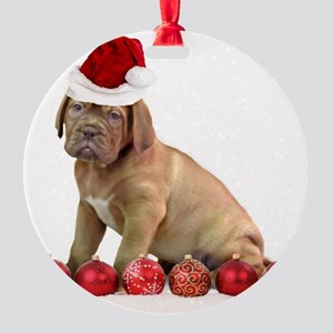Christmas Dogue de Bordeaux puppy Ornament