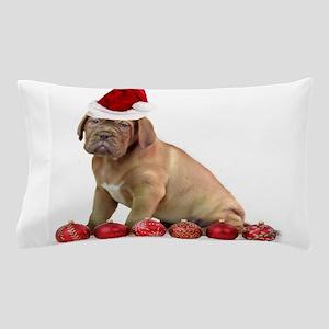 Christmas Dogue de Bordeaux puppy Pillow Case