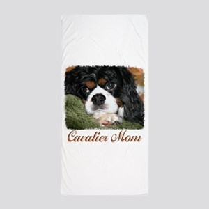 Cavalier Mom Beach Towel