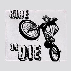 RIDE OR DIE Throw Blanket