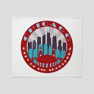 Chicago round Throw Blanket