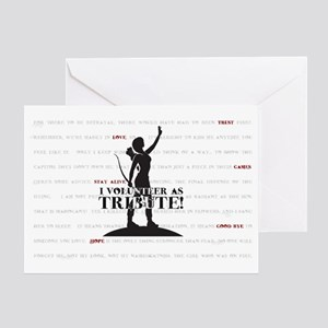 Hunger Games Volunteer Tribute Greeting Card