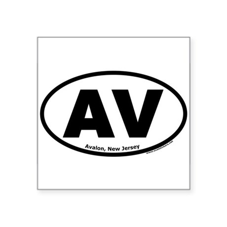 "Avalon, New Jersey ""AV"" Oval Sticker"