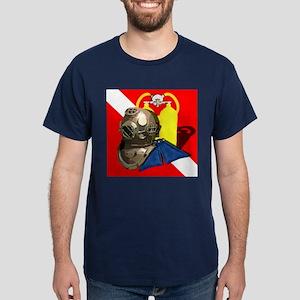 Vintage Diver Down Free Diver Scuba T-Shirt