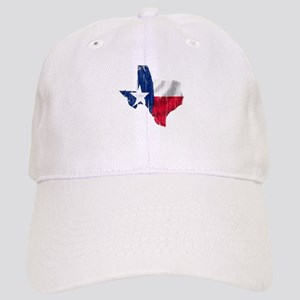 Texas Shape Flag Distressed Cap