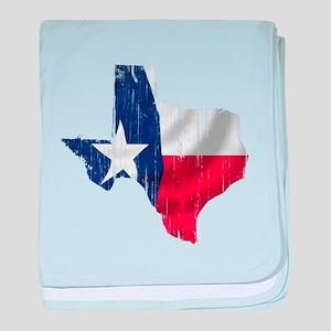 Texas Shape Flag Distressed baby blanket