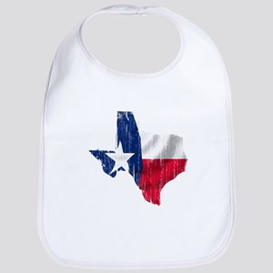 Texas Shape Flag Distressed Bib