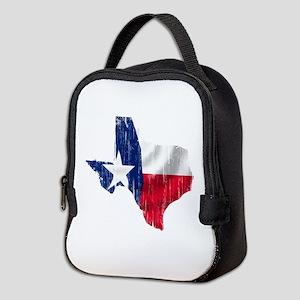 Texas Shape Flag Distressed Neoprene Lunch Bag