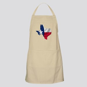 Texas Shape Flag Distressed Apron