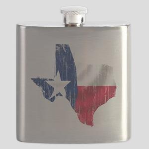 Texas Shape Flag Distressed Flask