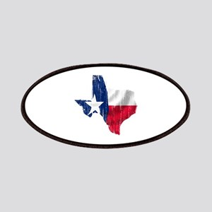 Texas Shape Flag Distressed Patches