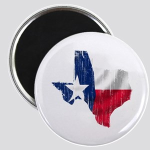 Texas Shape Flag Distressed Magnet