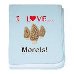 I Love Morels baby blanket