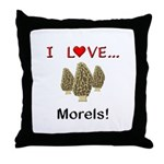 I Love Morels Throw Pillow