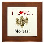 I Love Morels Framed Tile