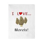 I Love Morels Twin Duvet