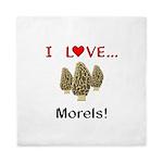 I Love Morels Queen Duvet