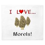 I Love Morels King Duvet
