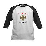 I Love Morels Kids Baseball Jersey