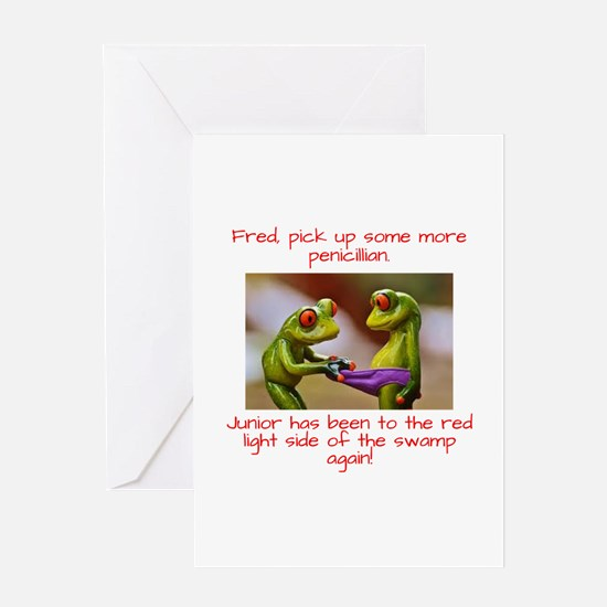 Junior the Naughty Frog Greeting Cards