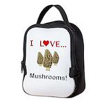 I Love Mushrooms Neoprene Lunch Bag