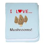 I Love Mushrooms baby blanket