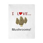 I Love Mushrooms Twin Duvet