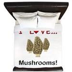 I Love Mushrooms King Duvet