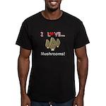 I Love Mushrooms Men's Fitted T-Shirt (dark)