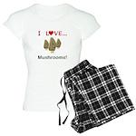 I Love Mushrooms Women's Light Pajamas