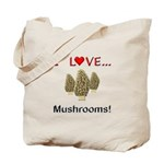 I Love Mushrooms Tote Bag