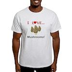I Love Mushrooms Light T-Shirt