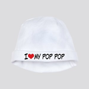 I Heart My Pop Pop baby hat