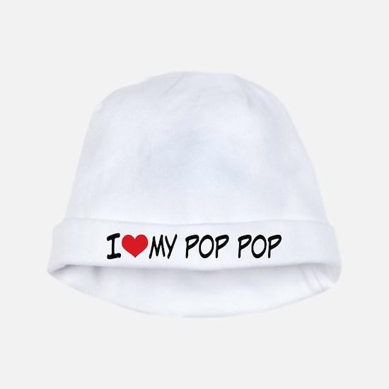 I Heart My Pop Pop baby hat