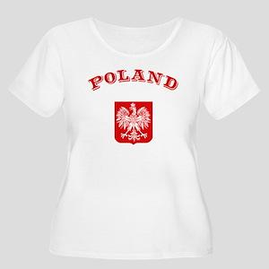 Poland Women's Plus Size Scoop Neck T-Shirt
