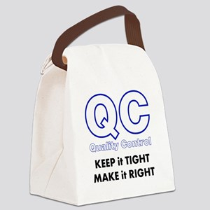 Quality Control Canvas Lunch Bag