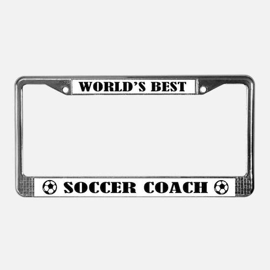 Worlds Best Soccer Coach License Plate Frame