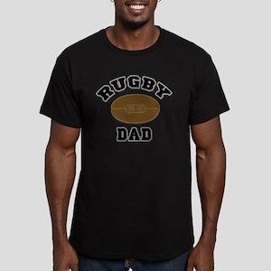 Rugby Dad Men's Fitted T-Shirt (dark)