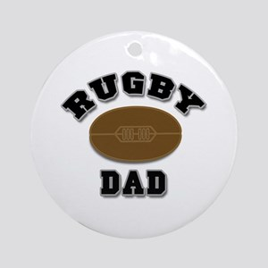Rugby Dad Ornament (Round)