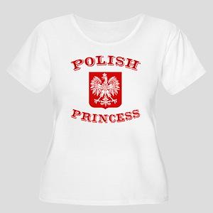 Polish Princess Women's Plus Size Scoop Neck T-Shi