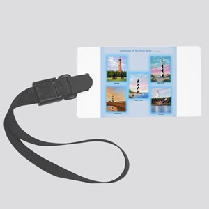 Lighthouses of the Outer Banks Large Luggage Tag