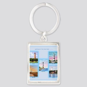 Lighthouses Of The Outer Banks Portrait Keychains