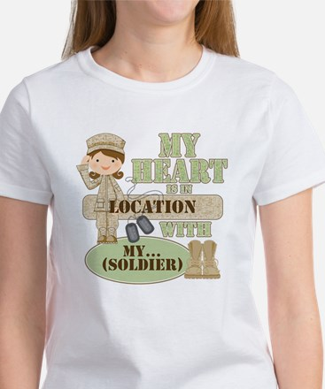 Heart With Soldier Women's T-Shirt