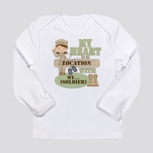 Heart With Soldier Long Sleeve Infant T-Shirt