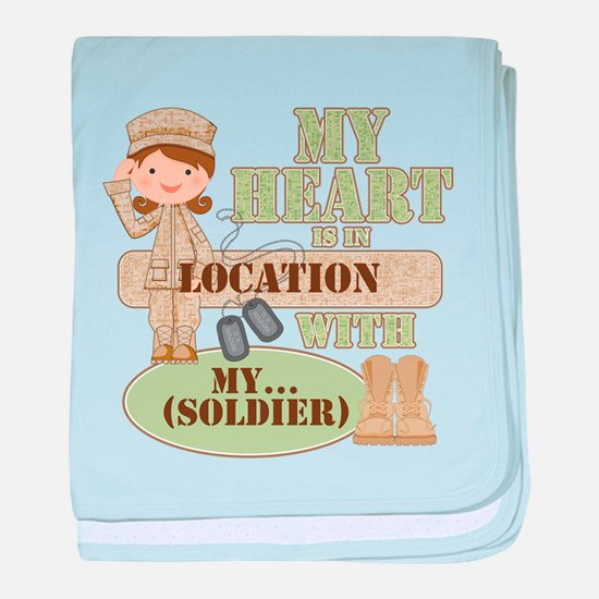 Heart With Soldier baby blanket