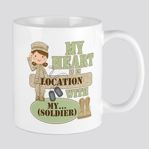 Heart With Soldier Mug