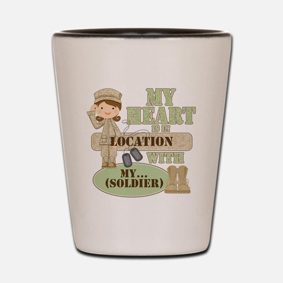 Heart With Soldier Shot Glass