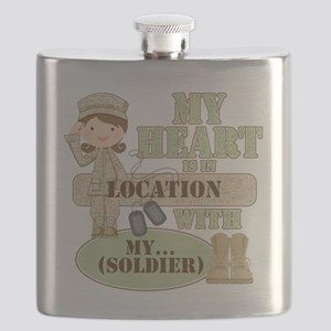 Heart With Soldier Flask