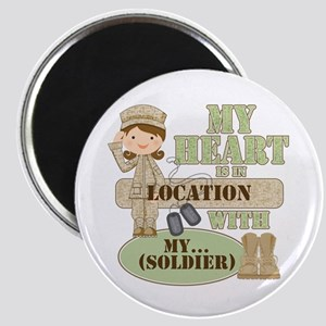 Heart With Soldier Magnet